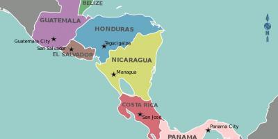 Cartina Fisica Dell America Centrale.Honduras Mappa Dell America Centrale Mappa Dell Honduras